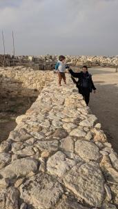 Walking on ancient walls