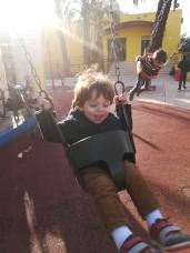 Titus on Swing