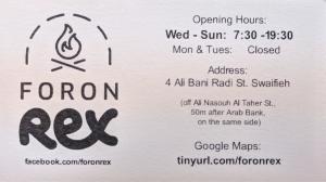 Foron Rex Business Card