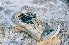 Shoe at Dead Sea