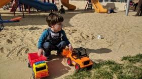 Playing at playground
