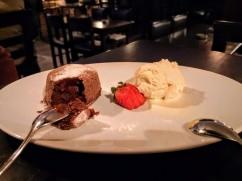 Chcholate Lava Cake with Vanilla Ice Cream