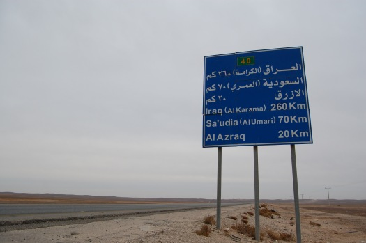 on the way to Azraq