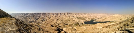 Panorama of the Wadi Mujib Dam