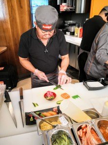 Sushi Den - the Chef at work