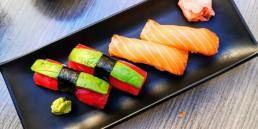 Sushi Den - Tuna and Salmon Nigiri