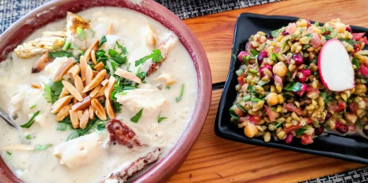 Jordan Heritage Restaurant - Fettat and Freekeh Salad