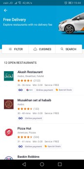 Talabat Screenshot - Free Delivery